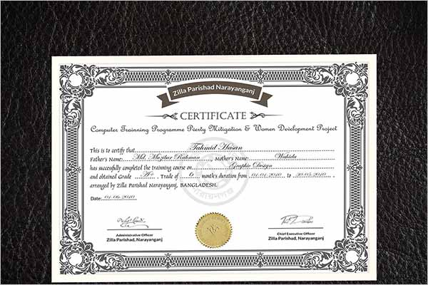 Fully Customizable Certificate Design