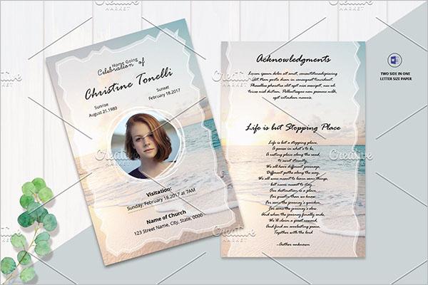 Funeral Prayer Card Templates