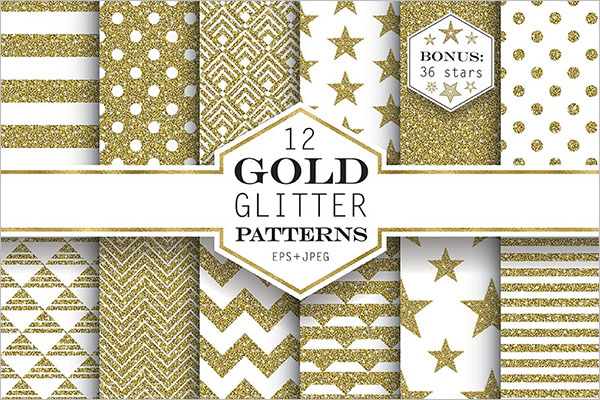 Gold And Glitter Pattern Designs