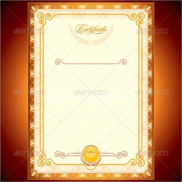 Golden Certificate Design