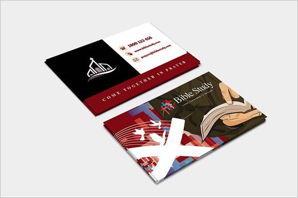 Graphic Church Business Card Template
