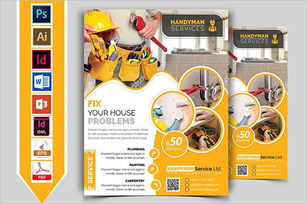 Handyman Plumber Service Flyer