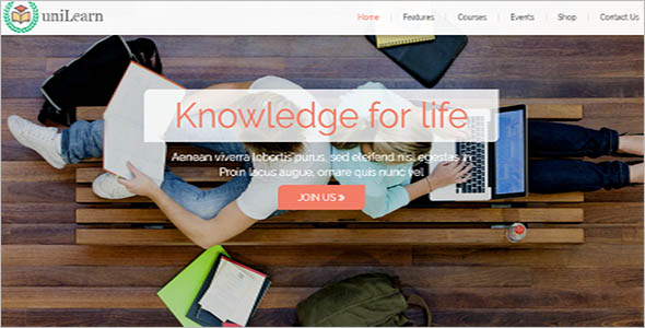 Indian Library Website Template