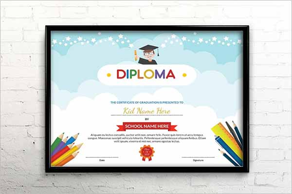 Kids Certificate Design Template