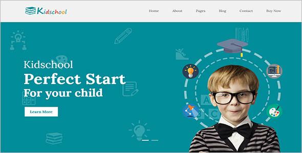 Kids School WordPress Theme