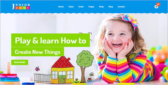 Kids e learning HTML Template