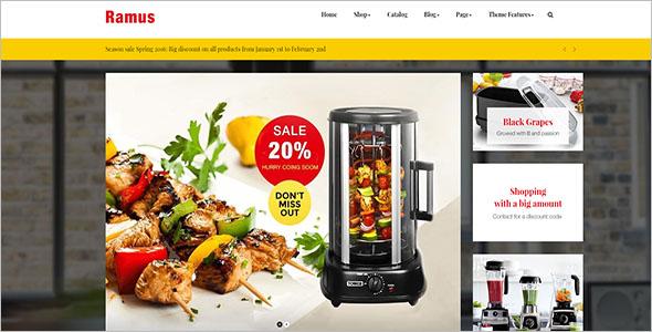 Kitchenware Shopify Website Theme