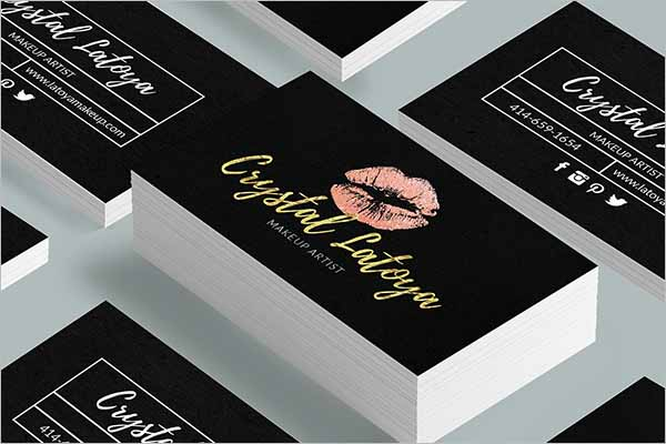 Latest Makeup Artist Business Card Templates