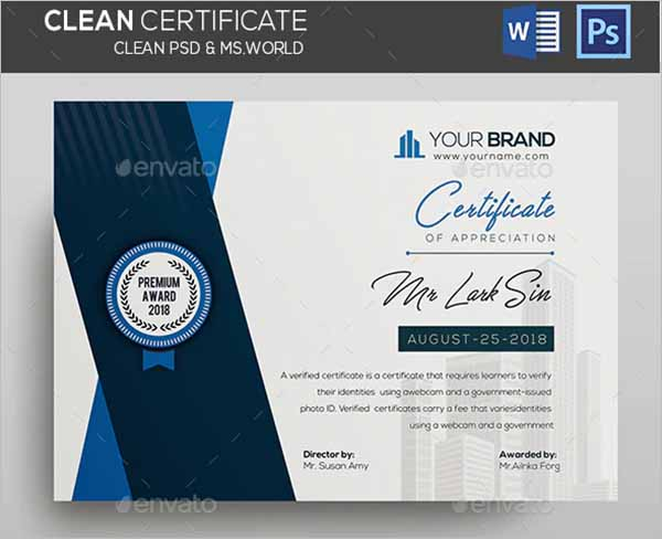 Latest Trending Certificate Design