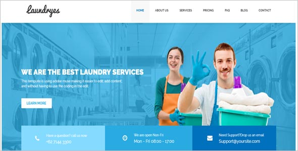 Laundry Business HTML Theme