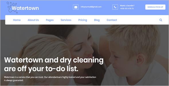 Laundry & Dry Cleaning Services Theme