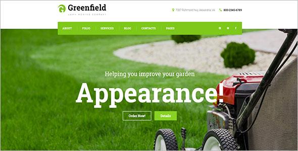 Lawn Company Responsive WordPress Theme