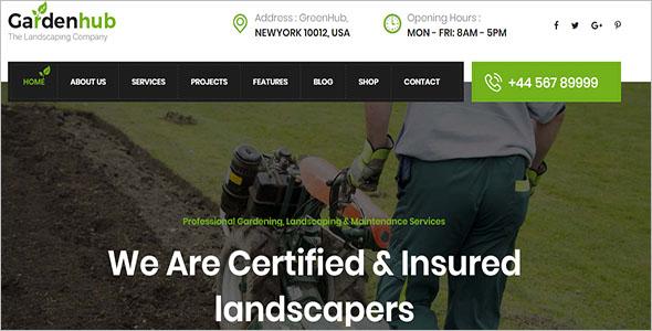 Lawn & Landscaping WordPress Theme