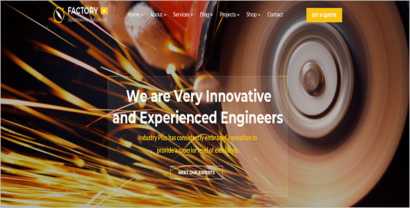 Manufacturing Engineering Html Template