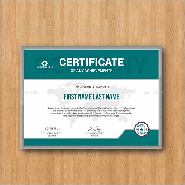 Minimal Certificate Template