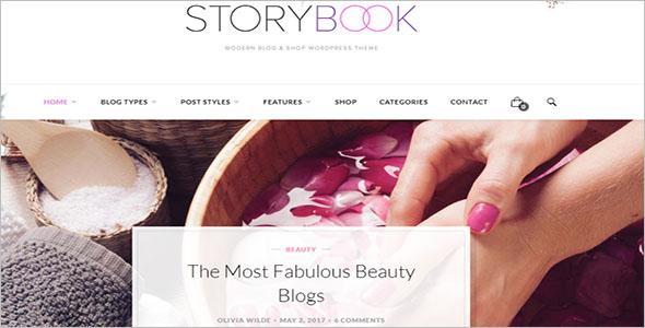 Modern Beauty Blog Woocommerce Theme