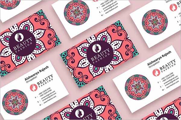 Modern Beauty Business Card Template