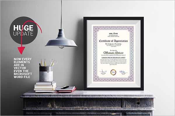 Modern Certificate Word Template