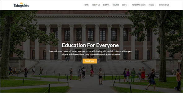 Modern E Learning Html Template