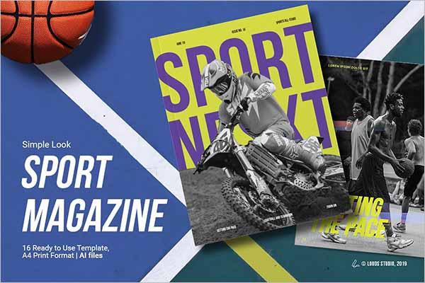Modern Sports Magazine Templates
