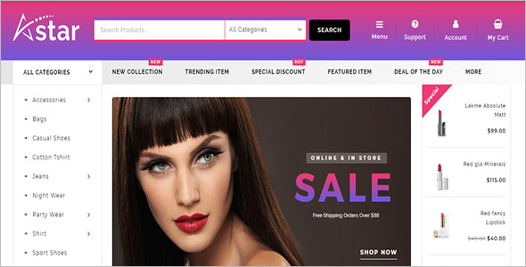 Multi Purpose Beauty Store WooCommerce Theme