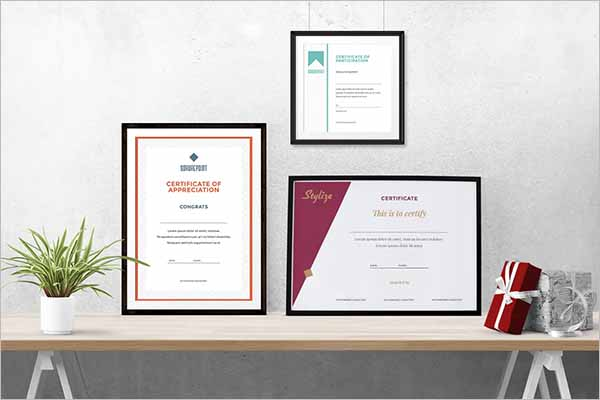 Multiple Design Certificate Template