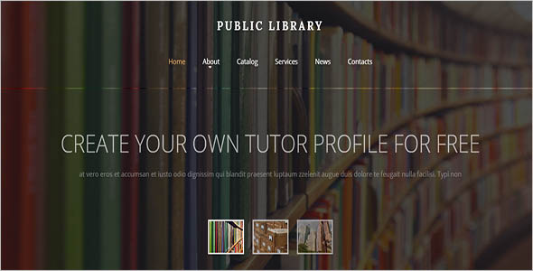 National Library Website Template