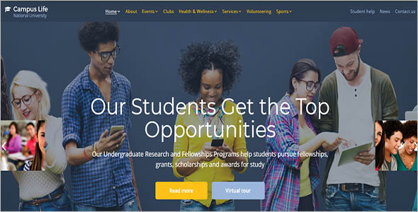 National University Website Template