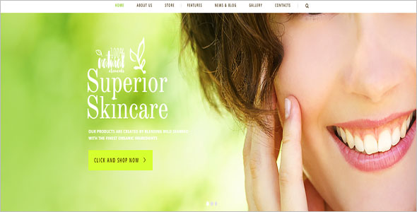 Natural Cosmetics WordPress Theme