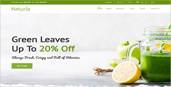 Natural Organic Store WooCommerce Theme