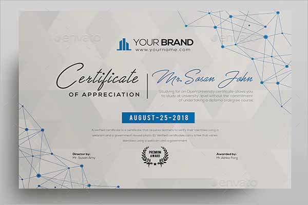 Official Certificate Design