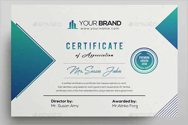 Official Certificate Template