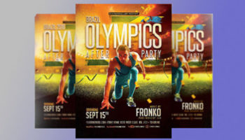Olympic Event Flyer Designs