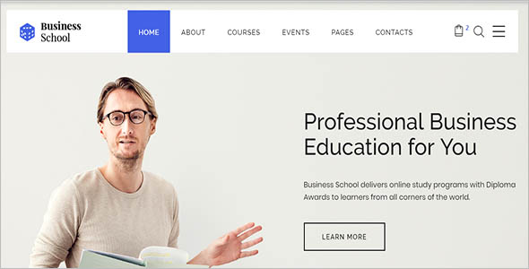 One Page College Website Template