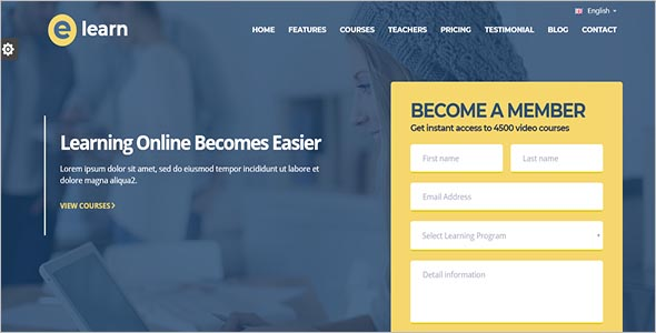 One page Bootstrap Education HTML