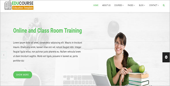 Online Training HTML Template