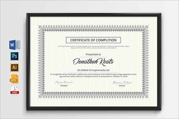 Perfect Design Certificate