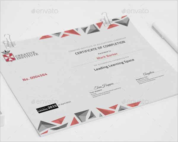 Performance Certificate Template