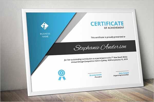 Print Certificate Template