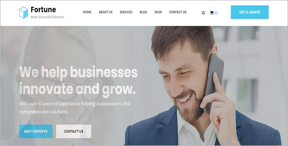 Professional Business Consulting HTML Template