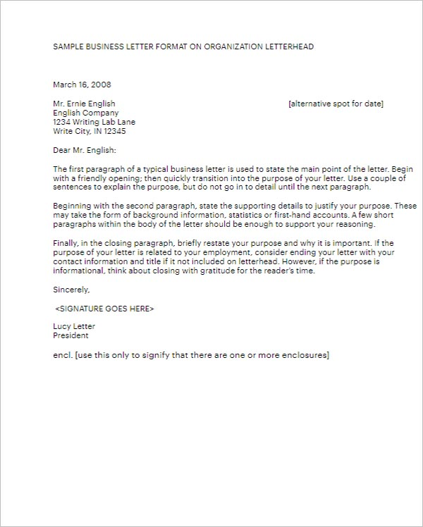 Professional Business Letter Template
