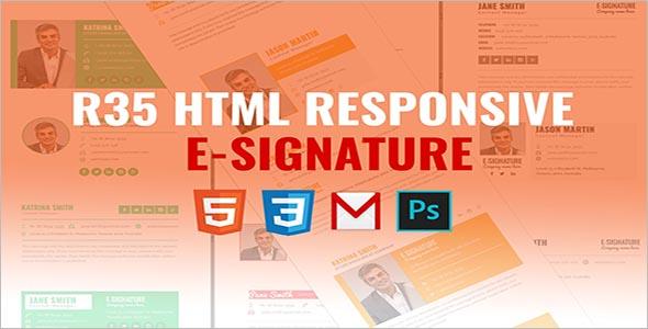 Professional HTML Responsive E-Signature