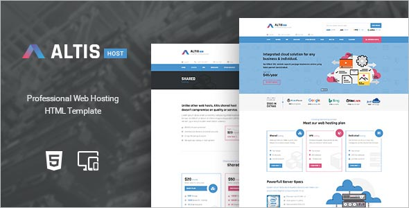 Professional Hosting HTML Template