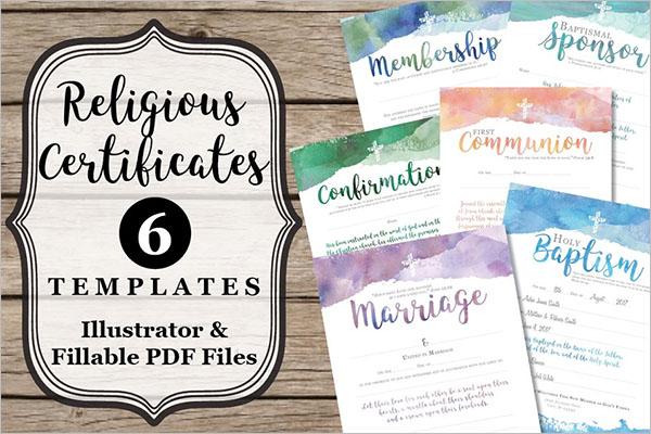 Religious & Church Certificates