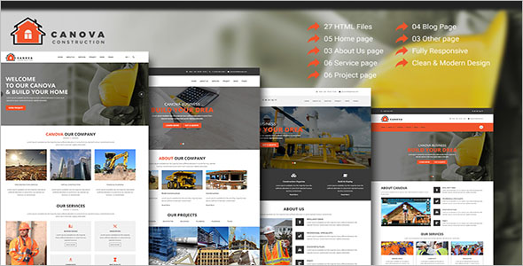 Responsive Construction HTML Theme
