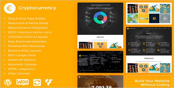 Responsive Cryptocurrency HTML Template
