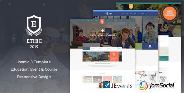 Responsive Joomla Education Website Template