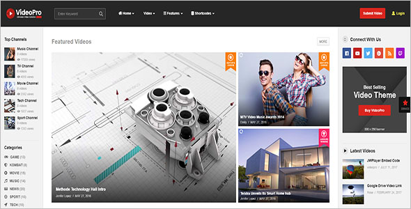Responsive Video WordPress Theme
