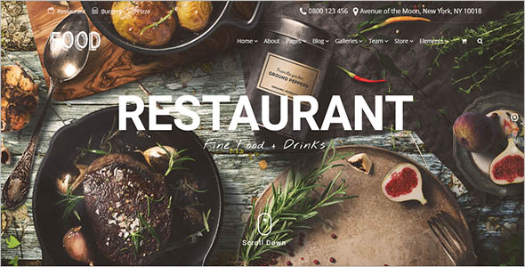 Restaurant Woocommerce Theme Example
