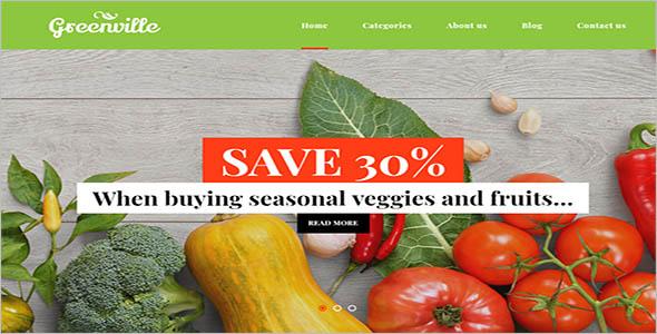 Restaurant wordpress WooCommerce Theme